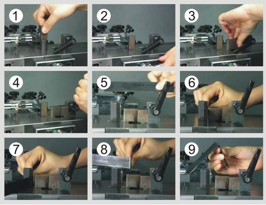 Euro Manual Bender Rule Bending Machine   Dieforming Machine With 41 Matrix For 23 80x0 71mm